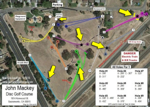 John Mackey Park DGC Map (New basket positions)