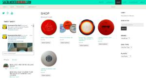 Sacramento Disc Golf shop screenshot