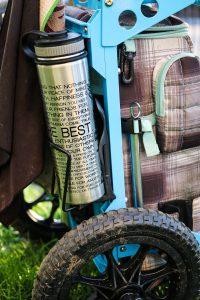 Zuca backpack cart bottle holder close-up