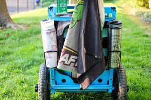 Zuca backpack cart rear bottle holders