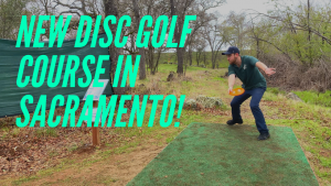 New disc golf course Cameron Park Lake vlog
